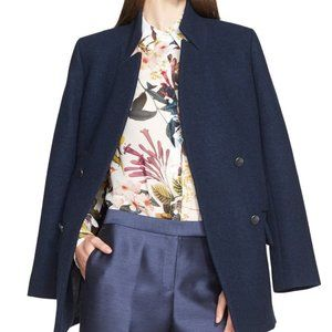 NWT NORDSTROM COLLECTION Navy Wool Peacoat